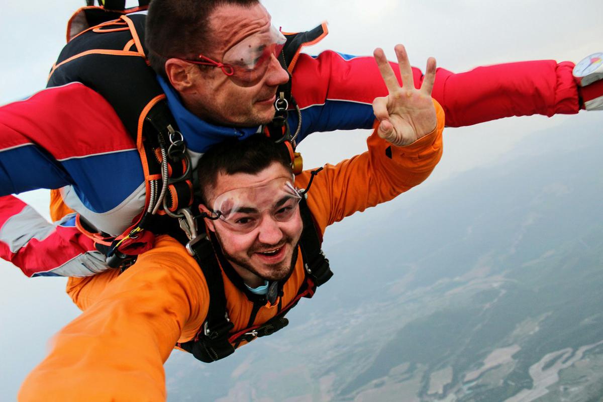 Сертификат на прыжок с парашютом в тандеме СПб