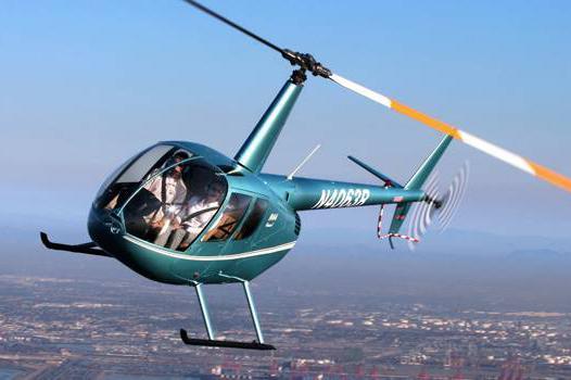 Полет на вертолете робинсон