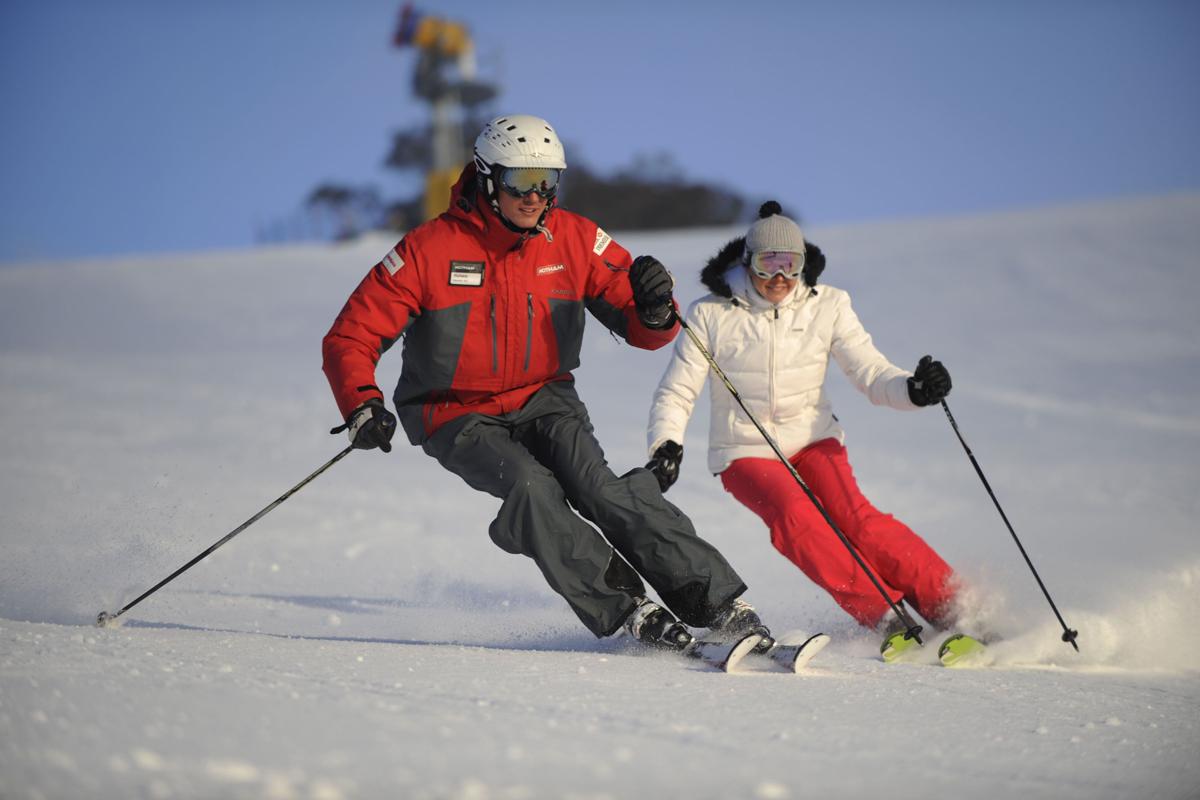 обучение горным лыжам спб
