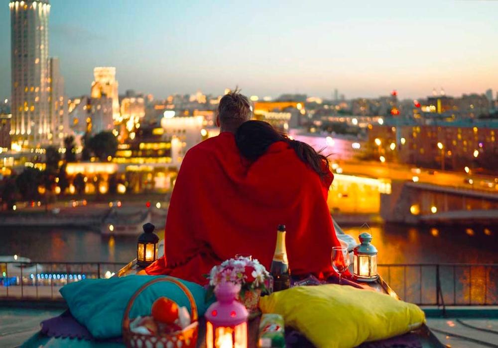 Свидание на крыше в Санкт-Петербурге