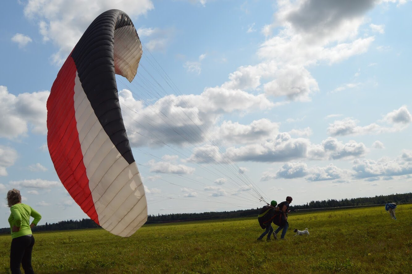 Полет на параплане фото