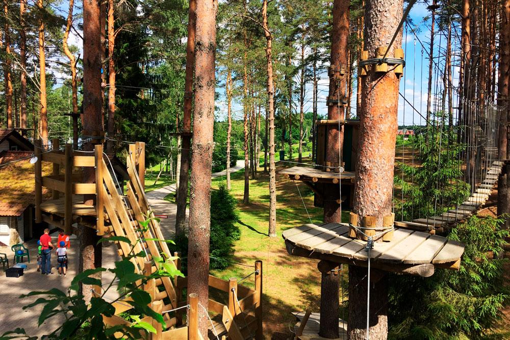 Веревочный паркк в Давинчи
