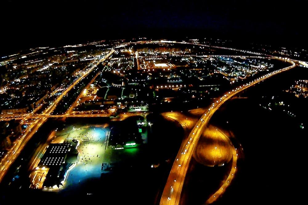 Полет на самолете ночью СПб