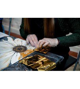 Картина с золотой поталью своими руками