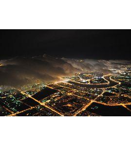 Полет над Санкт-Петербургом ночью